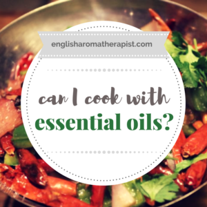 Can I cook with essential oils?
