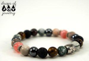 Grounding lava stone bracelet from Drops of Joy Jewelry