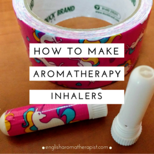 Make your own aromatherapy inhalers with essential oils