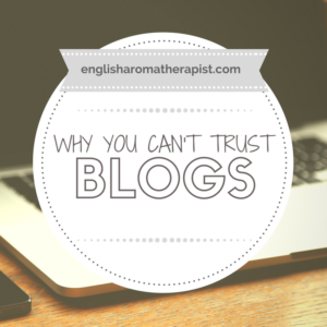Why you cant trust blogs