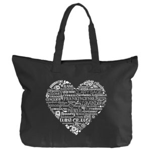 Whimsical Heart Tote Bag by Essential Oil Style