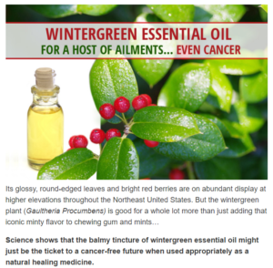 Wintergreen as cancer cure