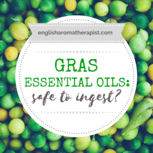 Essential oils and GRAS safety