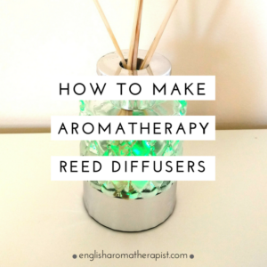 Make your own aromatherapy reed diffuser with essential oils
