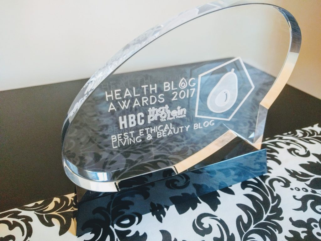 Health Blog Award - Best Natural Beauty and Lifestyle Blog