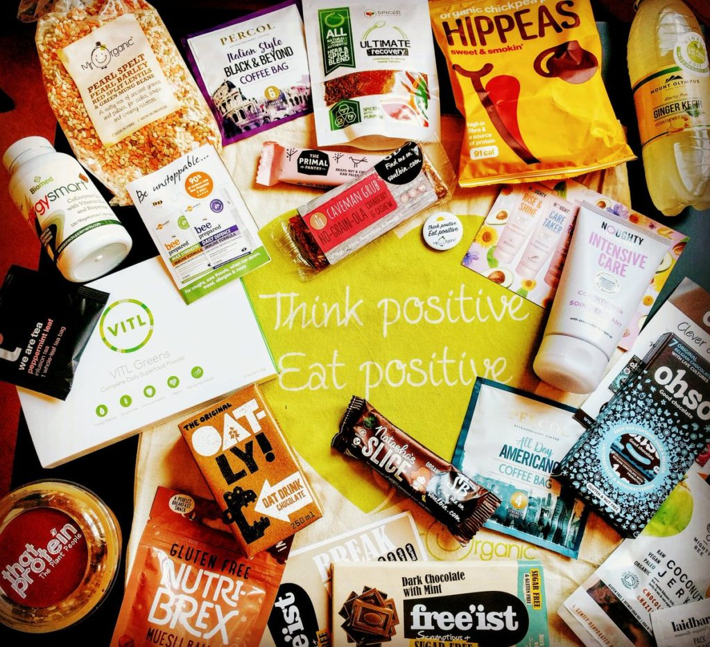 Health Blog Awards 2017 goody bag