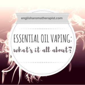 Essential oil vaping
