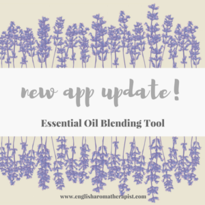 Essential Oil Blending Tool App