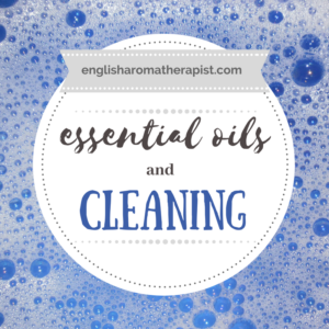 essential oils and homemade cleaning products