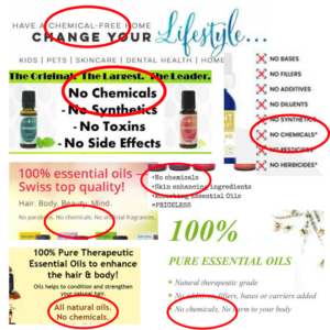 Are essential oils free from chemicals