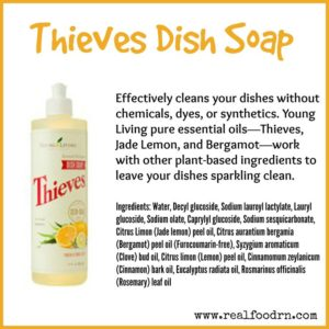 Natural dish soap with Thieves oil