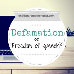 Defamation or Freedom of Speech?