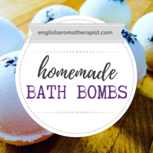 DIY bath bombs with essential oils