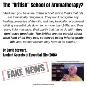 British School of Aromatherapy David Stewart